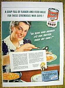 Vintage Ad: 1943 Campbell's Vegetable Soup (Image1)