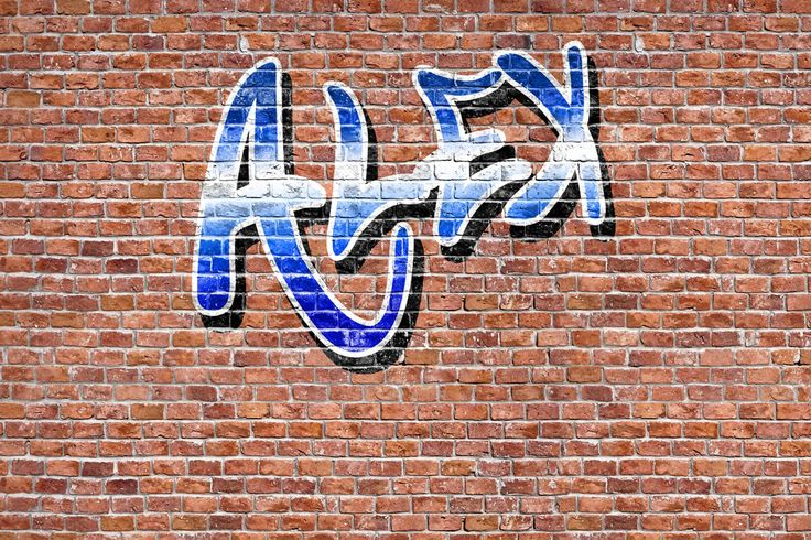 Quality Graffiti Name Wallpaper, custom made to suit your wall size by the UK's No.1 for wall murals. Custom design service and express delivery available.