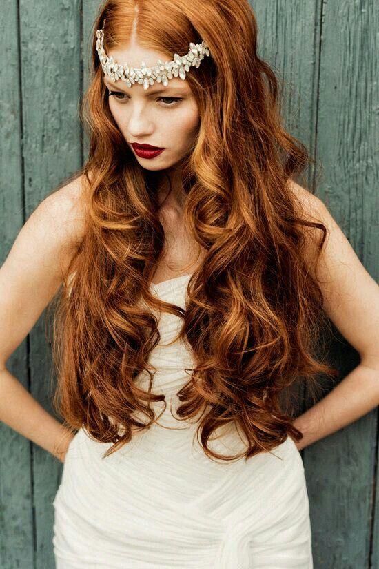 Red Wedding Hair Flower crown bohemian