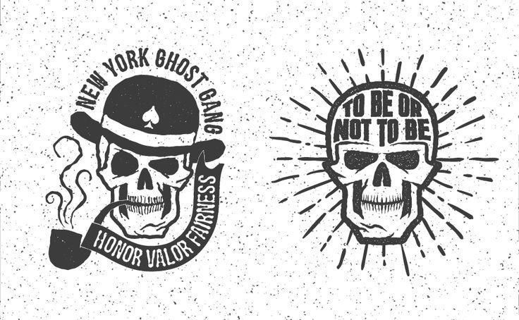 Ретро логотипы с черепом | fm.artlab.club