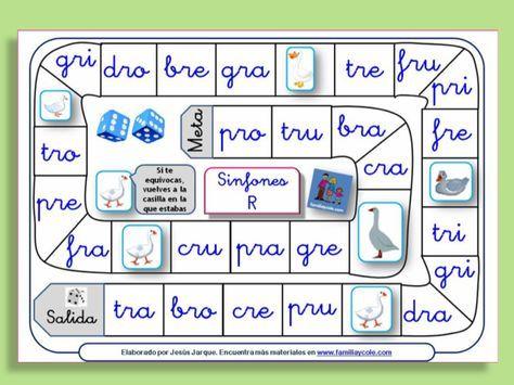 Entra y descárgate ahora diferentes juegos de la oca para leer trabadas y otras sílabas directas, reforzarán la lectura de una forma divertida.