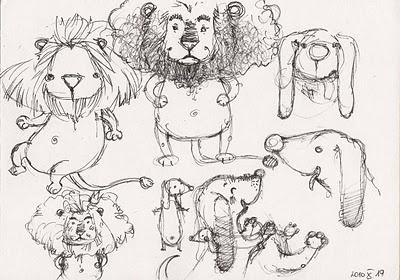 Animals sketches by Aleksandra Chabros aka Adelaida