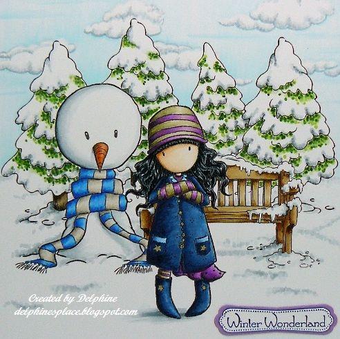 Gorjuss and snowman
