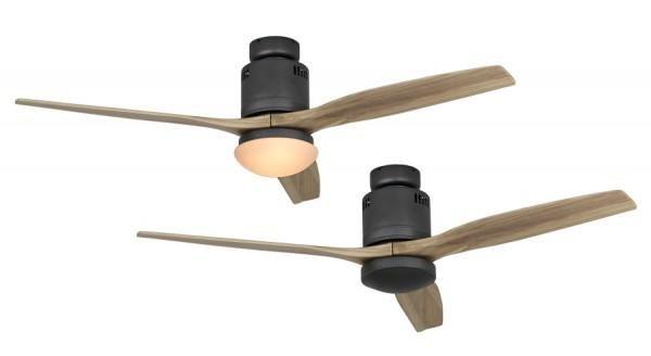 """Ventilateur de plafond """"éco"""" AERODYNAMIX de Casafan, Basalte, lumière et télécommande, diam. 132 cm"""