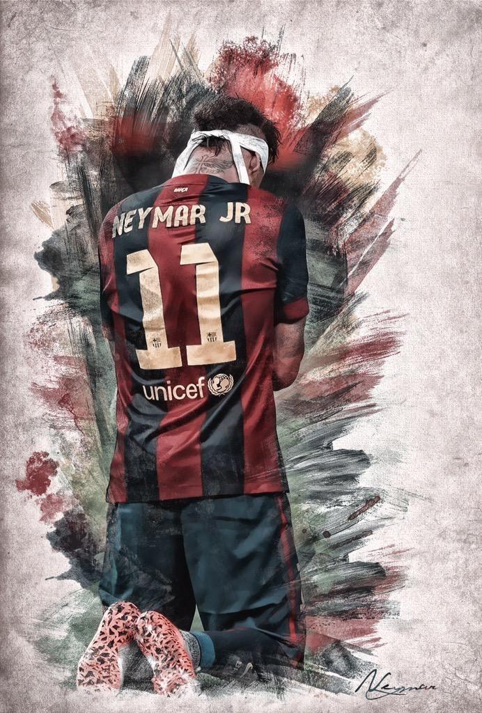 Illustration: Neymar #fcblive [via @sallybarca]