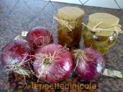 cucina,ricetta,ricette,conserve casalinghe,cipolla agrodolce,ricetta fotografata,antipasti,contorni,cipolla calabria,