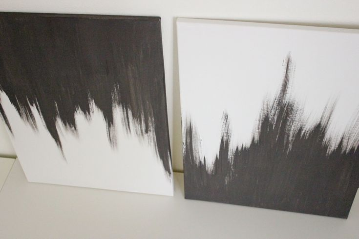 canvas art chaulk painting diy | made two and flipped one canvas to give a ying yang kind of feel.