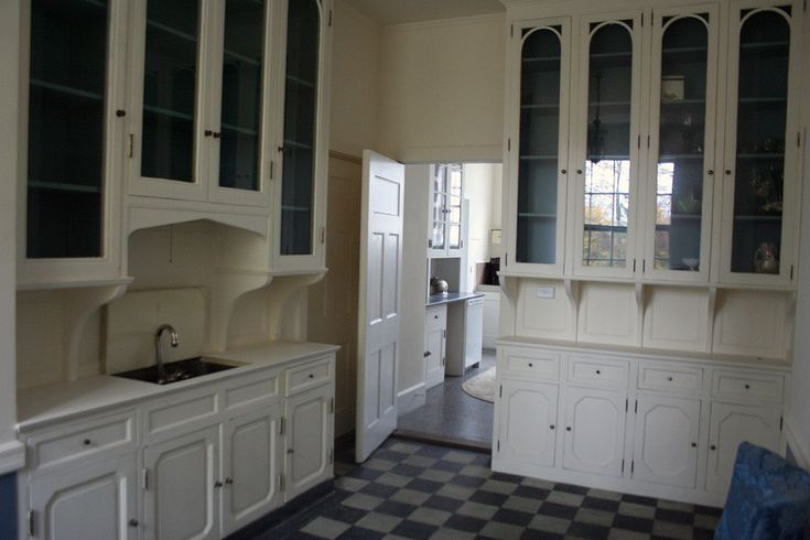 Mansion designed by McKim, Mead & White and built in 1907. Westchester, NY. Butler's pantry, serving area