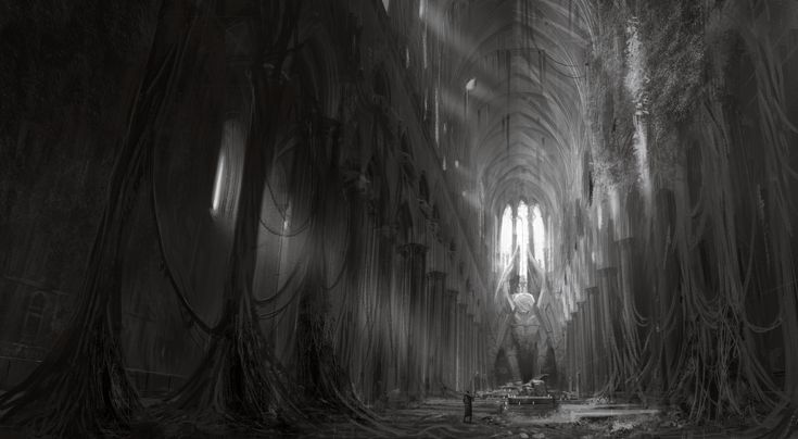 Old Cathedral, Maciej Rudnicki on ArtStation at https://www.artstation.com/artwork/1E4be
