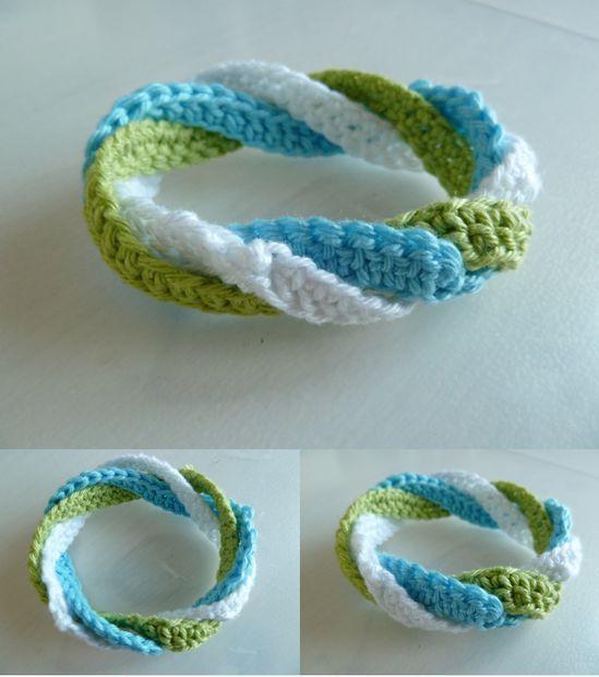 DIY Infinite circles crochet bracelet by emilyvanleemput - Tutorial  ༺✿ƬⱤღ✿༻