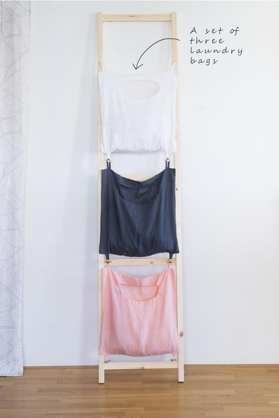 Linen Laundry Organizer Hanging Laundry Bag Color Coded Linen