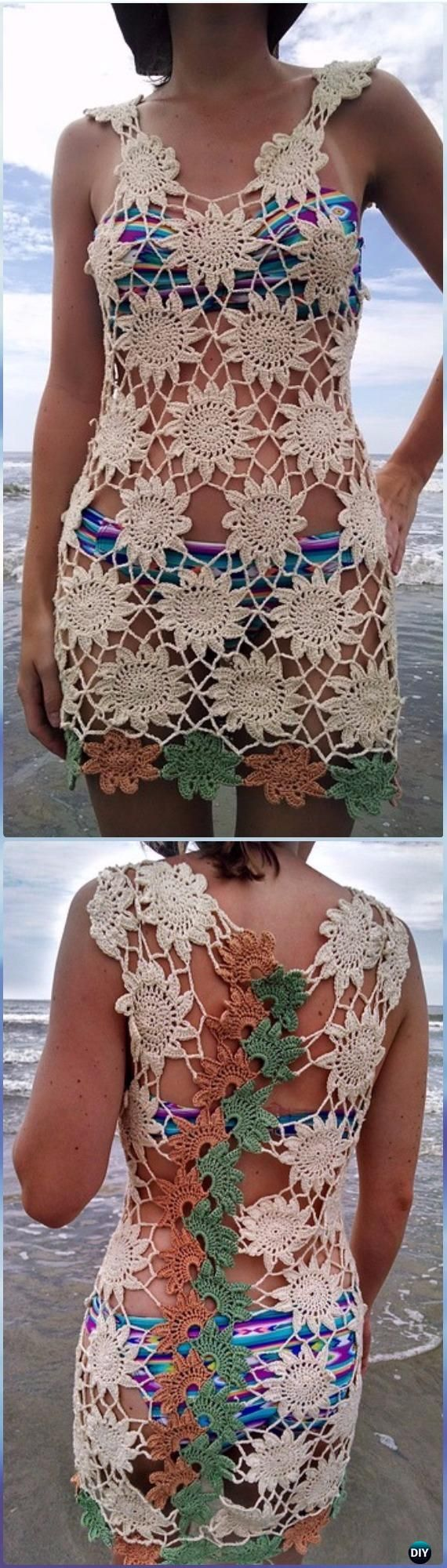 how to make a crochet cover up