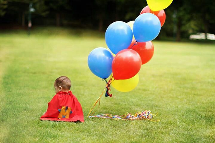 First birthday Super Hero theme marvelous Photography