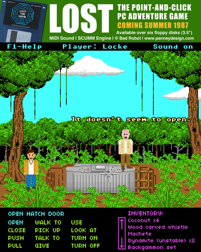 If LOST was a 1987 pointandclick computer game… See the