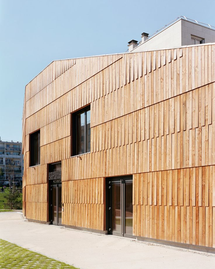 Passivhaus Community Centre By Guillaume Ramillien Architecture Is Clad In Grass And Timber | Interior Design inspirations and articles
