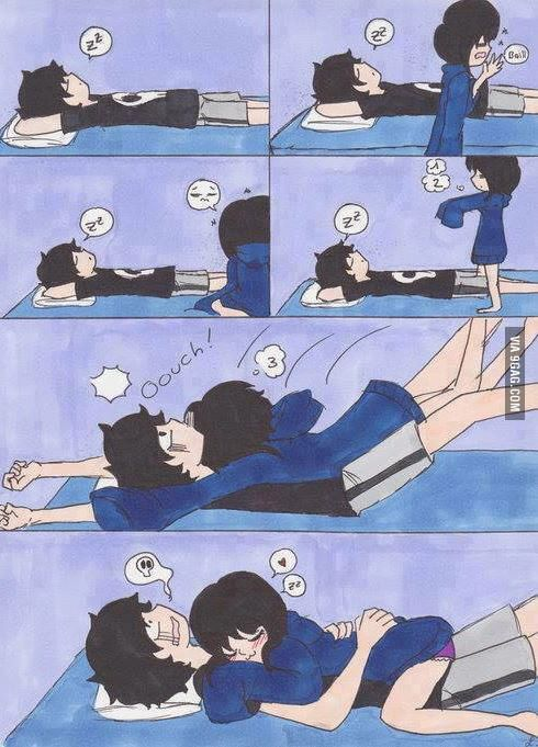 How to properly wake up your boyfriend... - 9GAG