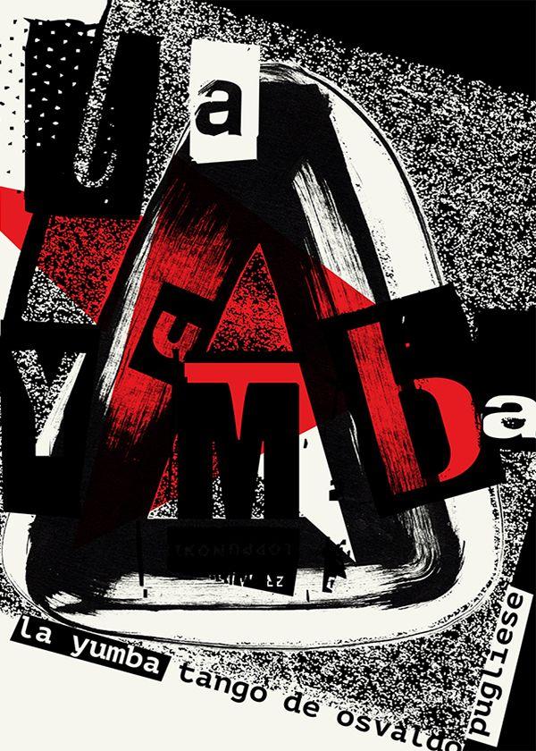 Tango argentino orchestra typographic poster: Osvaldo Pugliese