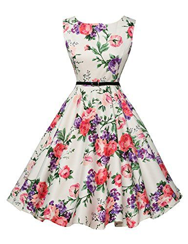 Floral Garden Dresses for Picnic Party Sleeveless Size S VL6086-21 GRACE KARIN® Vintage Dresses http://www.amazon.com/dp/B00ZH9ALX0/ref=cm_sw_r_pi_dp_dmQ1vb0Z01FKY