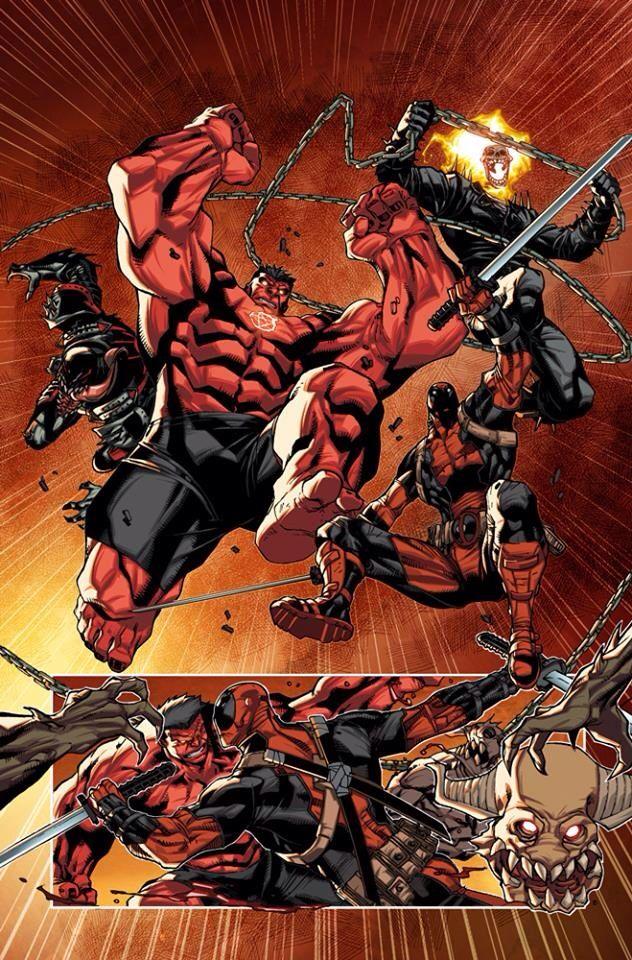 Red Hulk Deadpool Venom Ghost Rider Deadpool Da Man