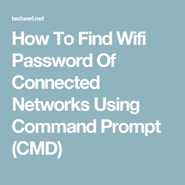 How To Find Wifi Password Of Connected Networks Using Command Prompt (CMD)