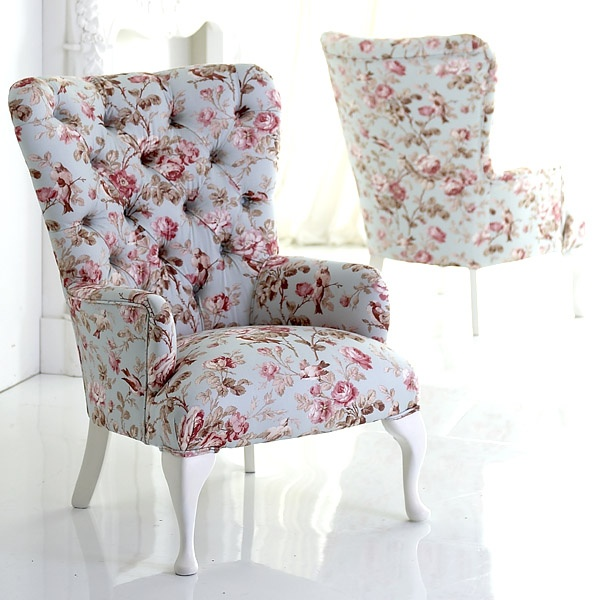 : Mornings Chairs, Decor, Floral Prints, Floral Chairs, Wings Chairs, Shabby Chic, Armchairs, Photo, Teas Parties