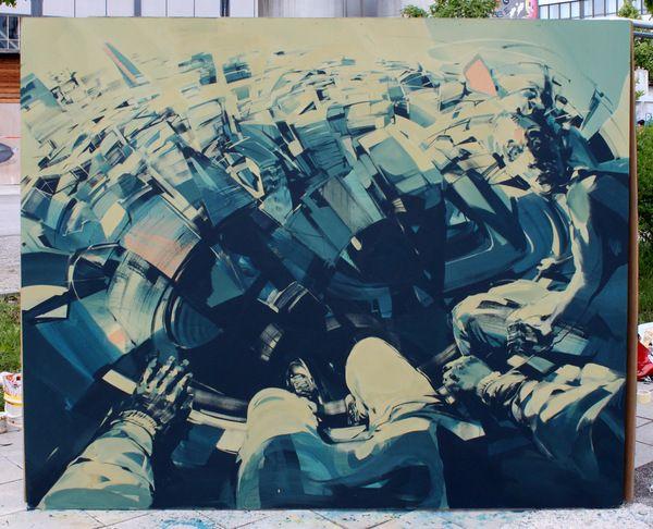 do yourself a favor and check out the rest of this guy's INCREDIBLE work http://www.behance.net/robertproch: Favors, Robert Proch, Proch Street, Behance, Art Streetart, The Edging, Street Art, Acrylics Work, Germany