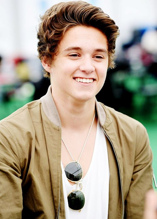 Bradley Simpson of The Vamps backstage at British Summer Time Festival at Hyde Park on July 6th, 2014