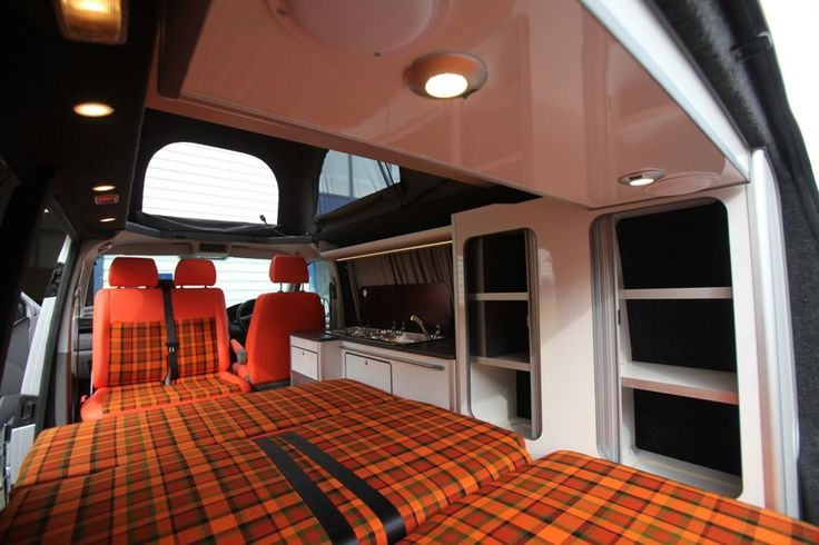Interior with westfalia plaid fabric das vagabundenleben for Interior westfalia