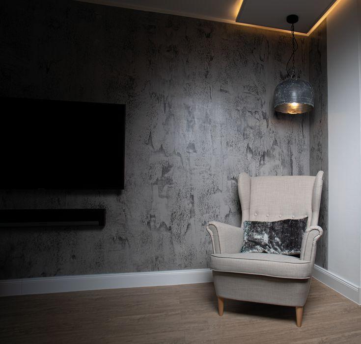 Betonoptik, Wohnzimmer   Wandgestaltung betonoptik ...