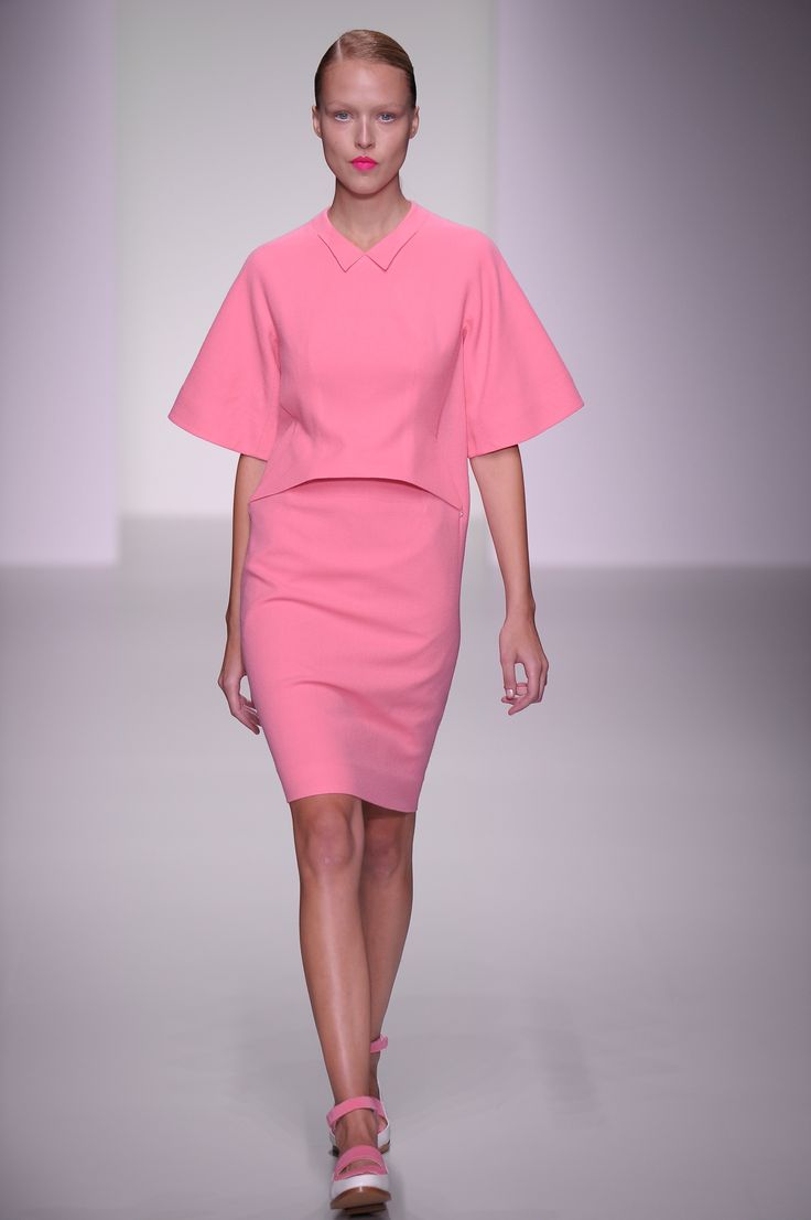 We love pink...obviously. J. JS Lee SS14, #LFW