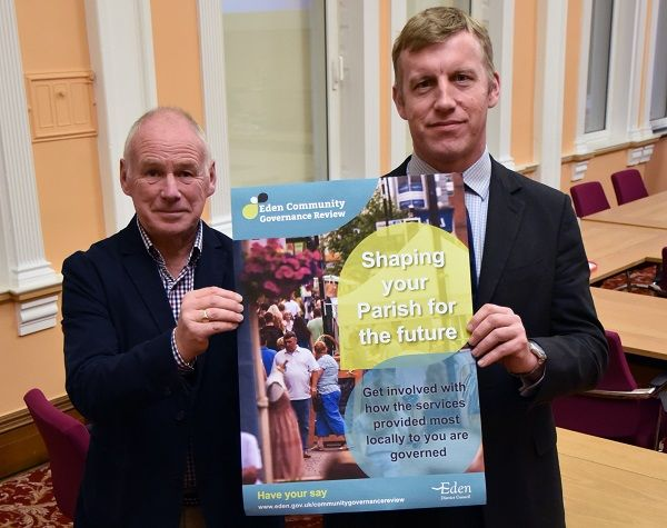 Have Your Say and help shape Eden's parishes for the future http://www.cumbriacrack.com/wp-content/uploads/2017/11/CommunityGovernanceReviewlaunchCllrDouglasBanksDeputyChiefExecMatthewNeal-copy.jpg The people of Eden District are being asked to 'Have Their Say' about how the services that are delivered most locally in their communities are governed    http://www.cumbriacrack.com/2017/11/09/say-help-shape-edens-parishes-future/