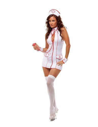 I love this simple yet classic Naughty Nurse Halloween Costumes. This has a nice amount of coverage while being sexy at the same time. Starline Women's Sexy Frisky Nurse Costume Set