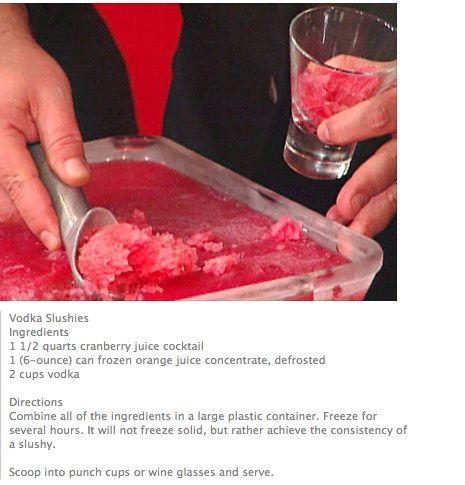 Vodka Slushie