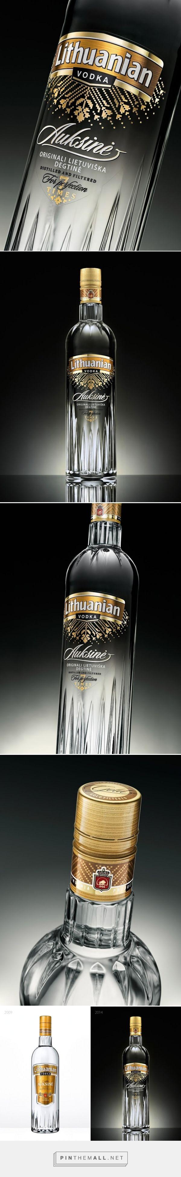 Lithuanian Vodka Gold #packaging by Studija CREATA - http://www.packagingoftheworld.com/2015/01/lithuanian-vodka-gold.html