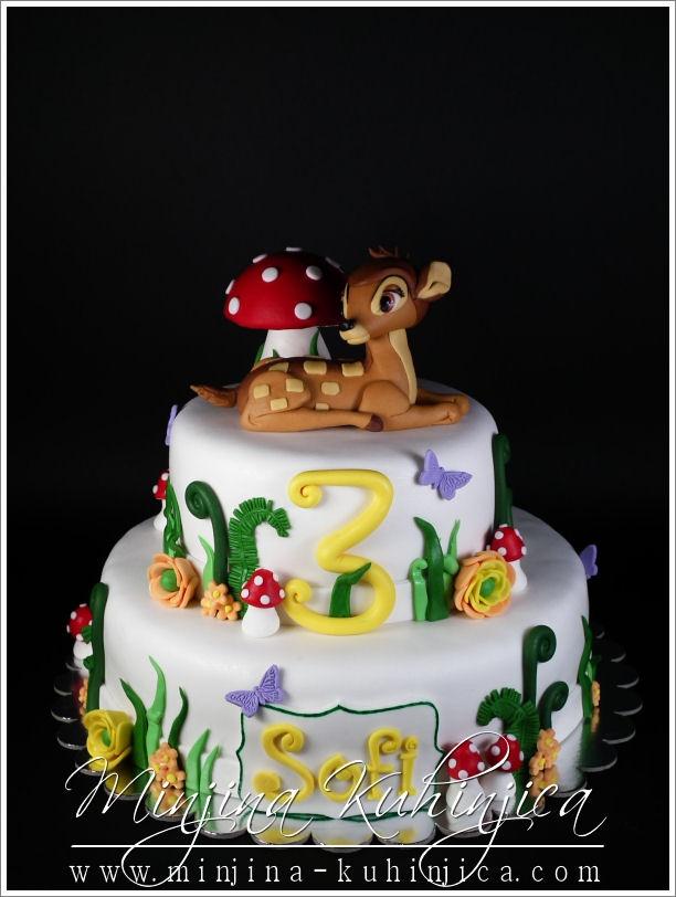 Bambi cake, maybe third birthday.....