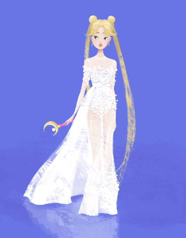 eastwoodwong:  Sailor Moon aka Princess Serenity in Elie Saab Spring 2014 Couture. Match made in Heaven.