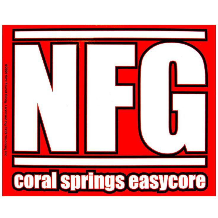New Found Glory - Coral Springs Easycore Sticker