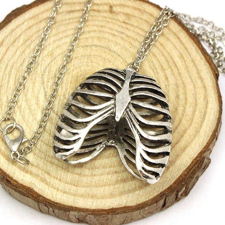 Anatomical Human Rib Cage Necklace