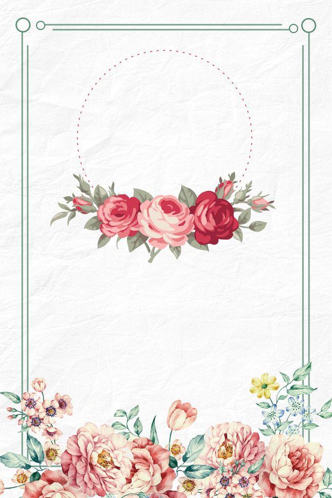 منديل الإطار الزهور خلفيات زهور Pink Wallpaper Flower Backgrounds Page Borders Design