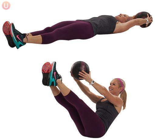 How To Do Medicine Ball V-Up