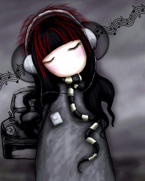 Music makes pain fade away Illustration de Suzanne Woolcot (Gor Juss) artiste écossaise.