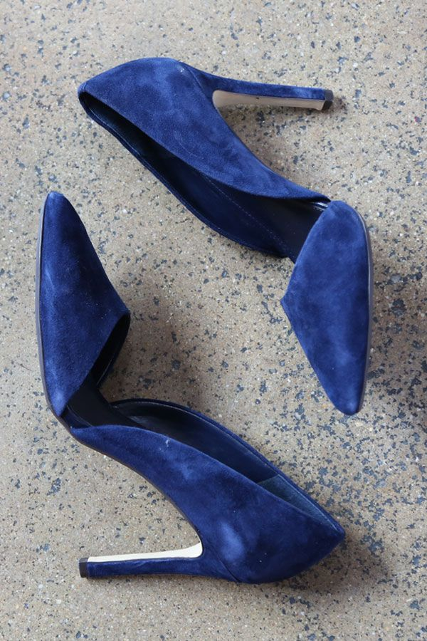 Found. D'Orsay heels in the perfect shade of blue.   Banana Republic