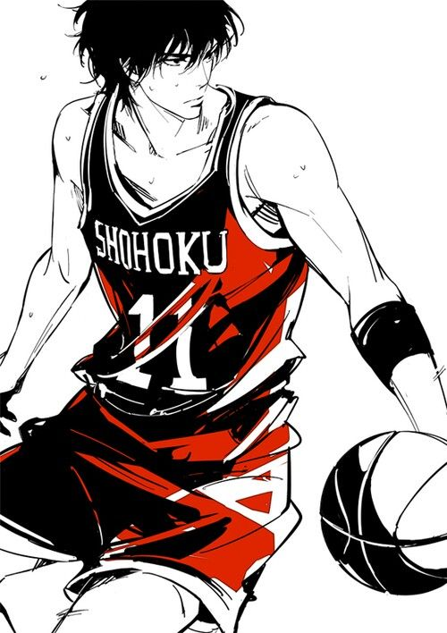 "Anime character name that starts with ""R"" 3: Rukawa Kaede from Slam Dunk"