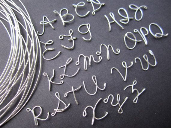 Sterling silver Personalized Wire Name Necklace door BlueJBridal