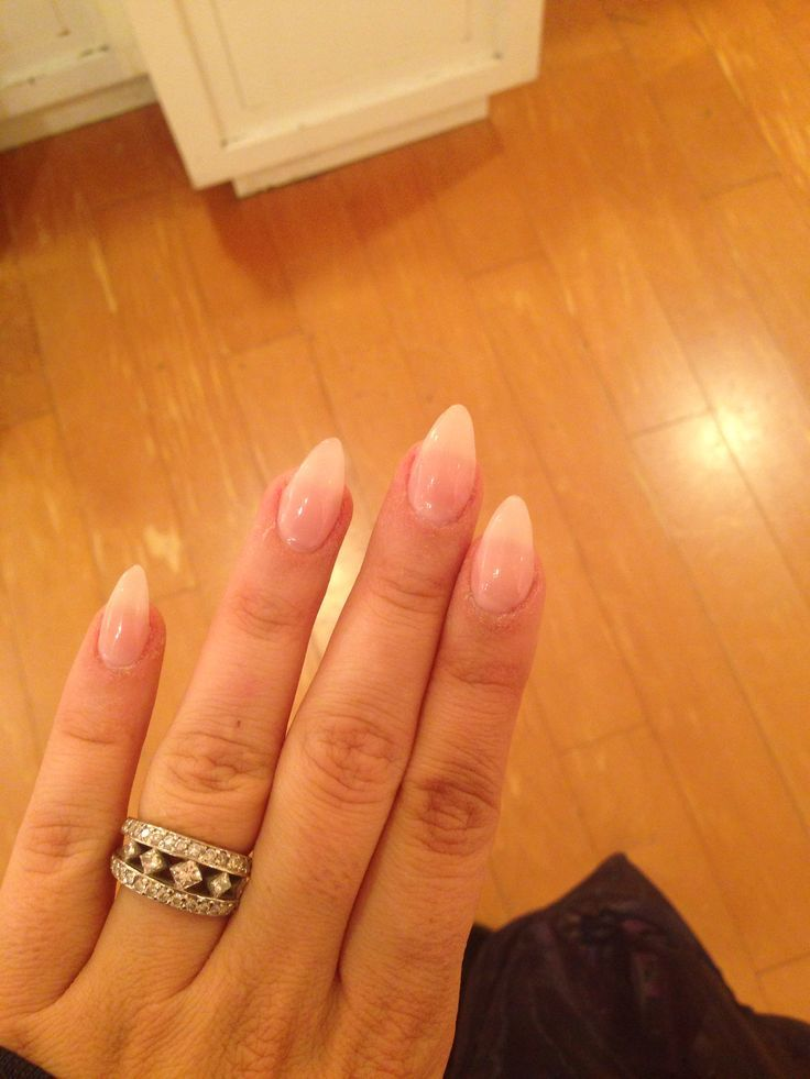 Stiletto Nails Fake Nails Matte Nails Blue Press On Nails: 25+ Trending Almond Nails Pink Ideas On Pinterest