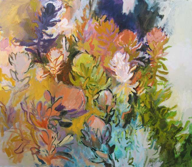 Jenny Parsons, Fynbos riot 2008 Oil on canvas 100 X 115cm