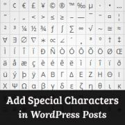 Adding Special Characters Using WordPress Visual Editor