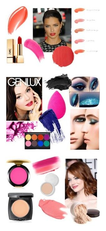 """Bright Spring Makeup"" by stylist-vera on Polyvore featuring coloranalysis, beauty, GALA, Yves Saint Laurent, Burberry, Anna Sui, Sisley, brightspring, springmakeup and type1"