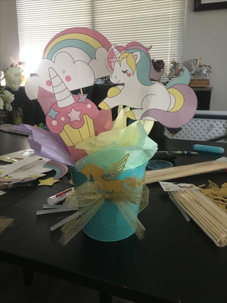 Best unicorn centerpiece ideas on pinterest