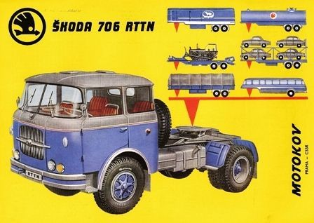 Výsledek obrázku pro Skoda 706 Tractor-Trailer